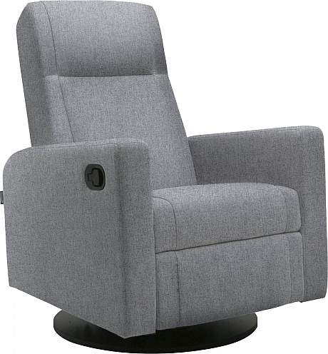 Dutailier Lula Swivel Glider Recliner Chair in Grey