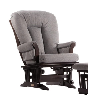 Dutailier Stock Sleigh Glider 61B-100 - Espresso with Charcoal