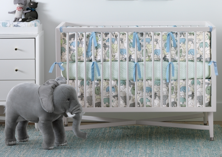Dwell Studio Mid Century Convertible Crib French White