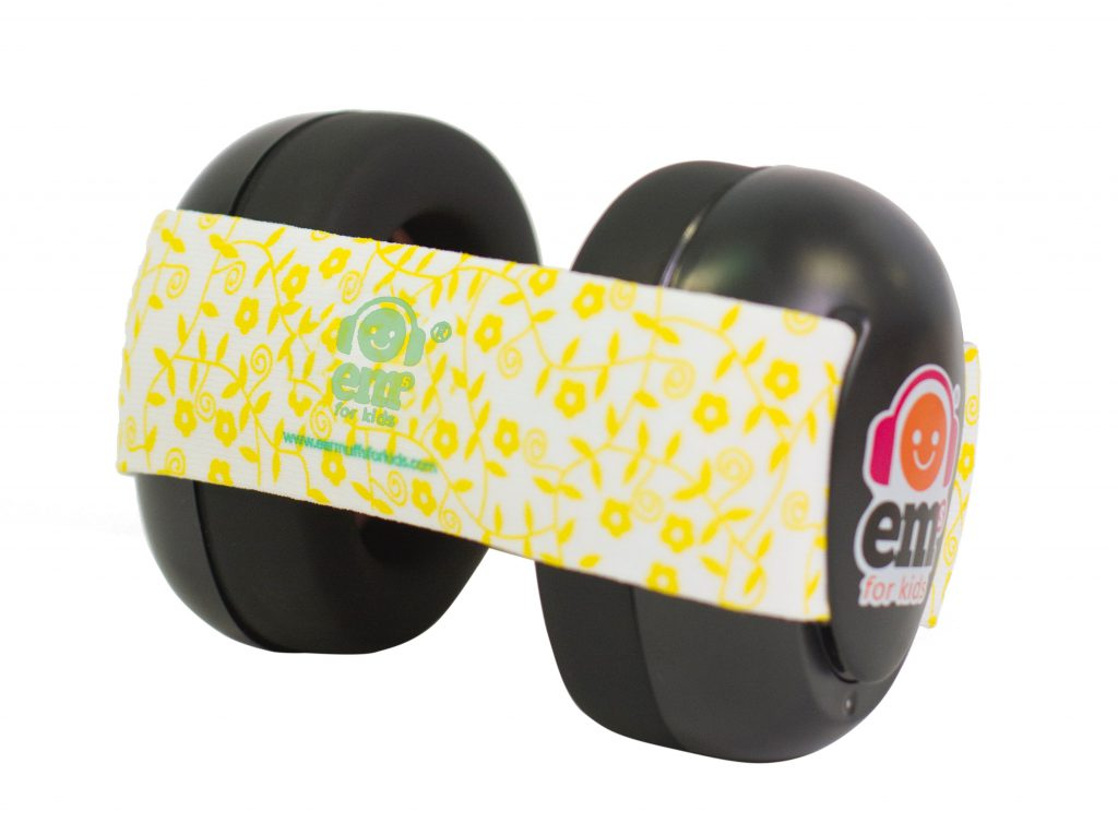 Ems for Kids Baby Earmuffs Lemon Set on Black