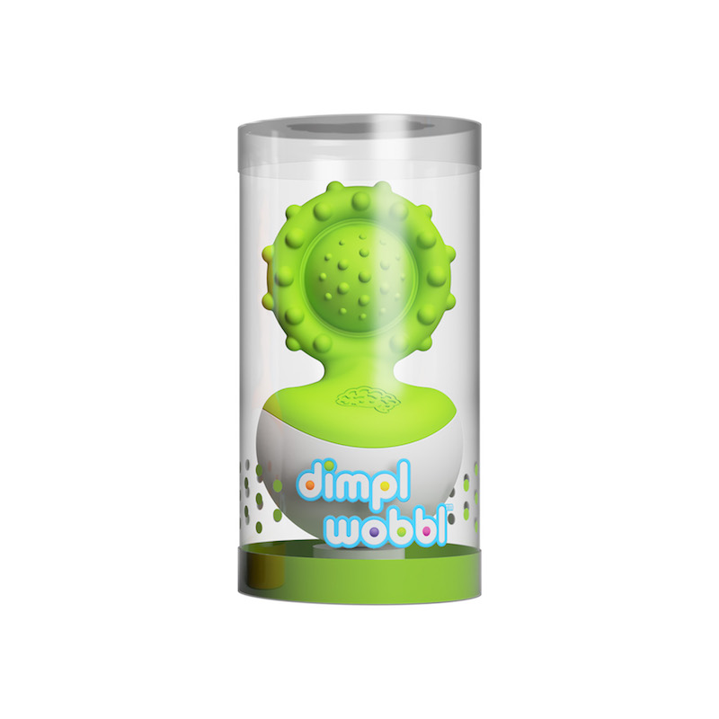Fat Brain Toys Dimpl Wobbl Toy - Green