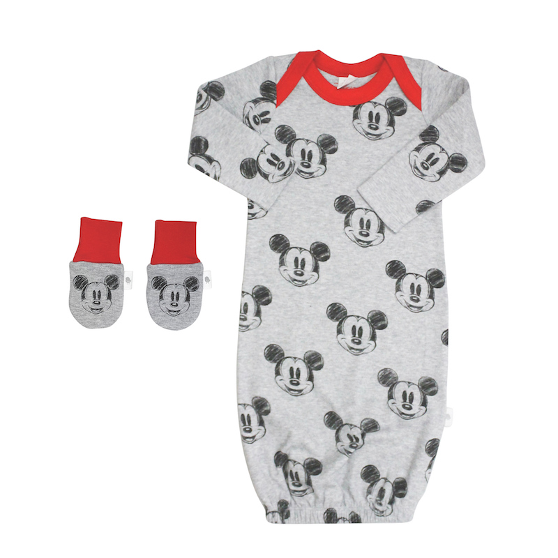 Finn + Emma Disney Mickey Classic Gown + Mittens in 0-3 Months