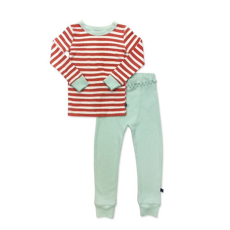 Finn + Emma Red Stripe Pajamas - 18-24 Months