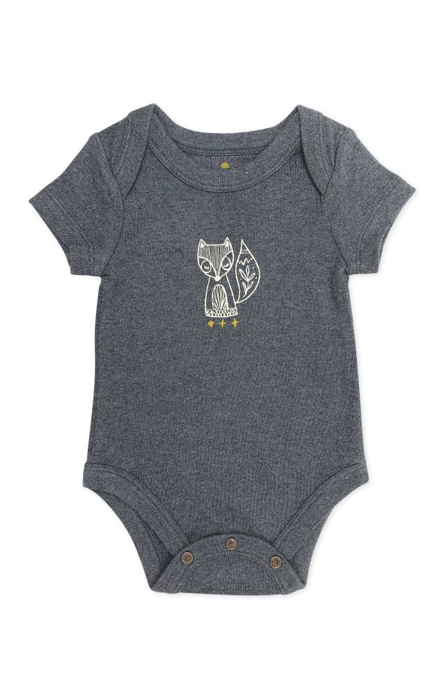 Finn + Emma Beluga Heather Bodysuit - 0-3 Months