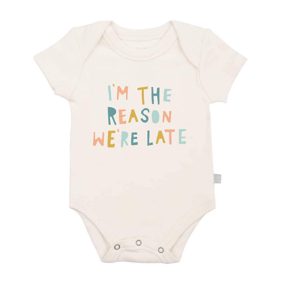 Finn & Emma I'm the Reason We Are Late Bodysuit - 9-12 Months