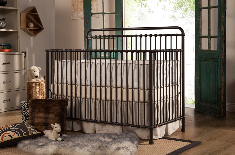 Franklin & Ben Winston Metal Convertible Crib, Vintage Iron