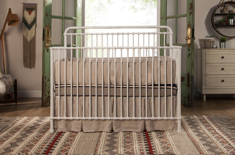 Franklin & Ben Winston Metal Convertible Crib - Washed White
