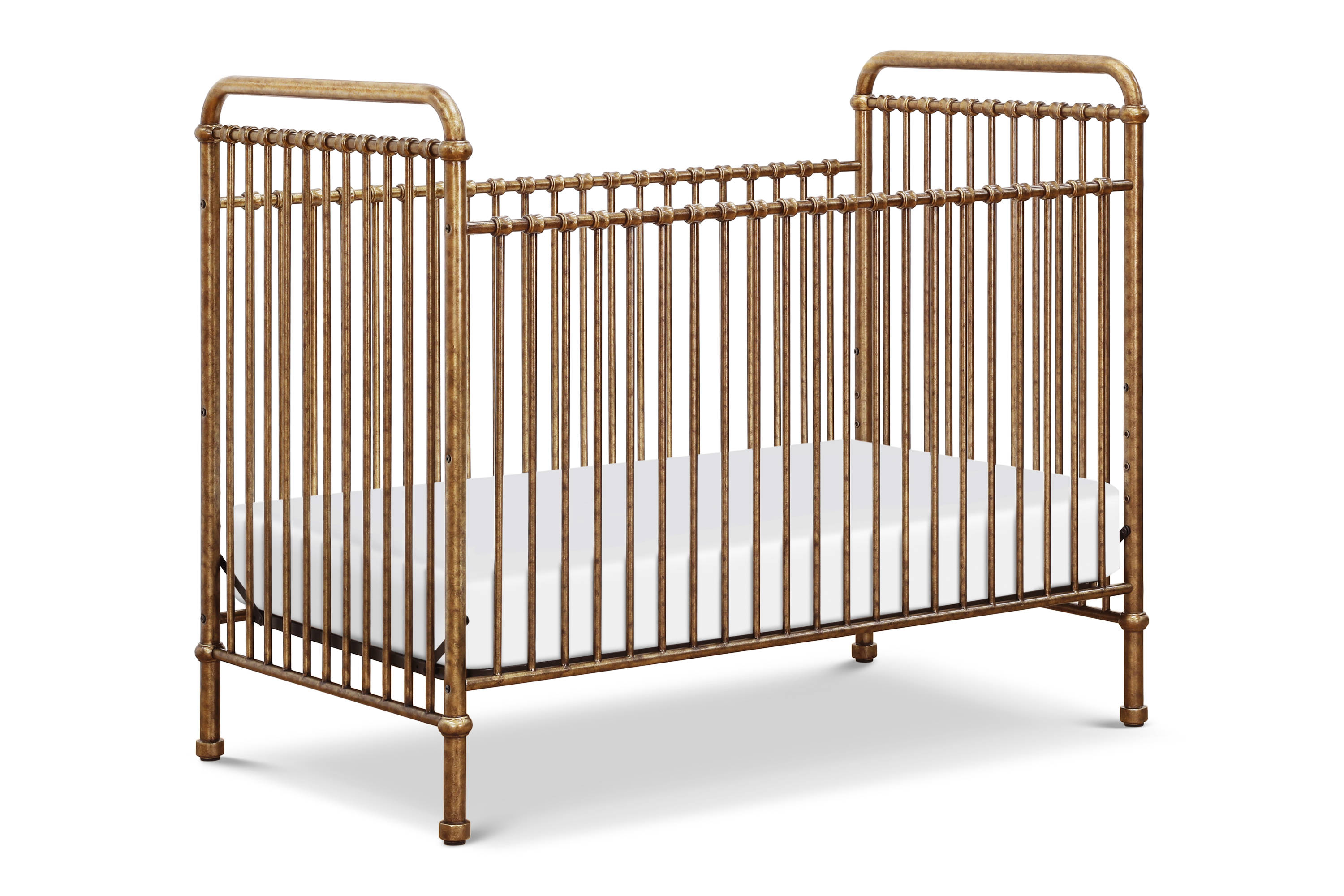 Franklin & Ben Abigail Metal Crib - Vintage Gold