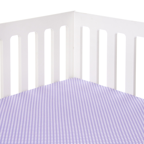 Glenna Jean Lilly and Flo Crib Sheet, Purple Dot