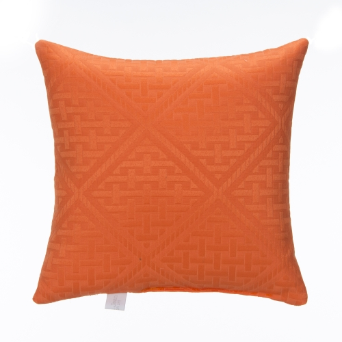 Glenna Jean Lilly and Flo Pillow, Orange Matelasse