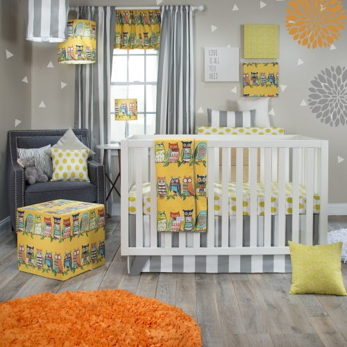Glenna Jean Lil Hoot 3 Piece Crib Bedding Set