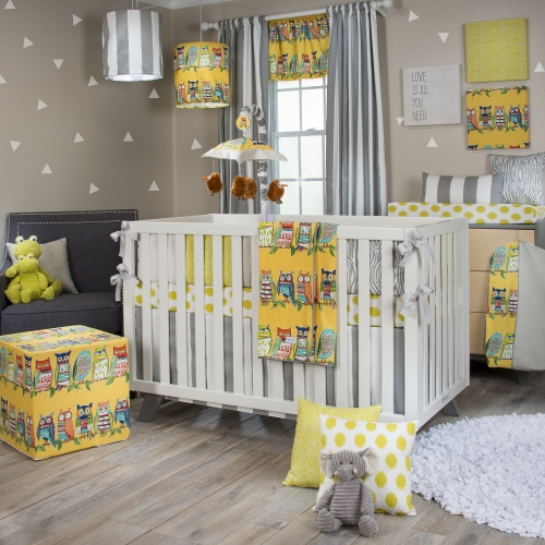 Glenna Jean Lil Hoot 4 Piece Crib Bedding Set
