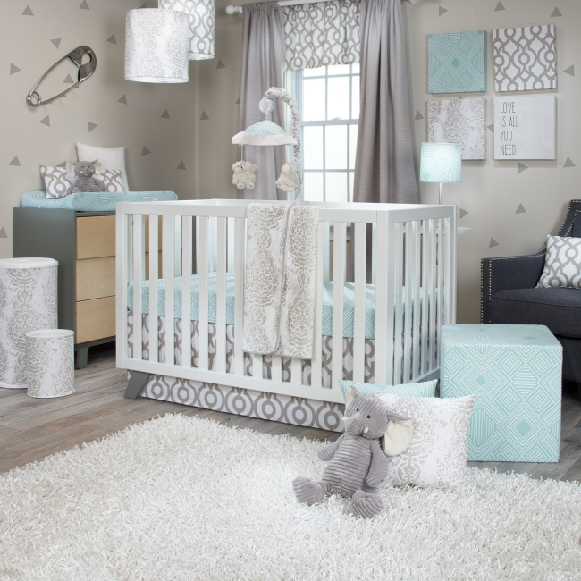 Glenna Jean Soho 3 Piece Crib Bedding Set