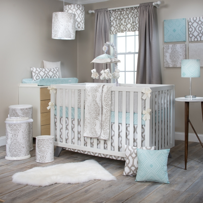 Glenna Jean Soho 4 Piece Crib Bedding Set