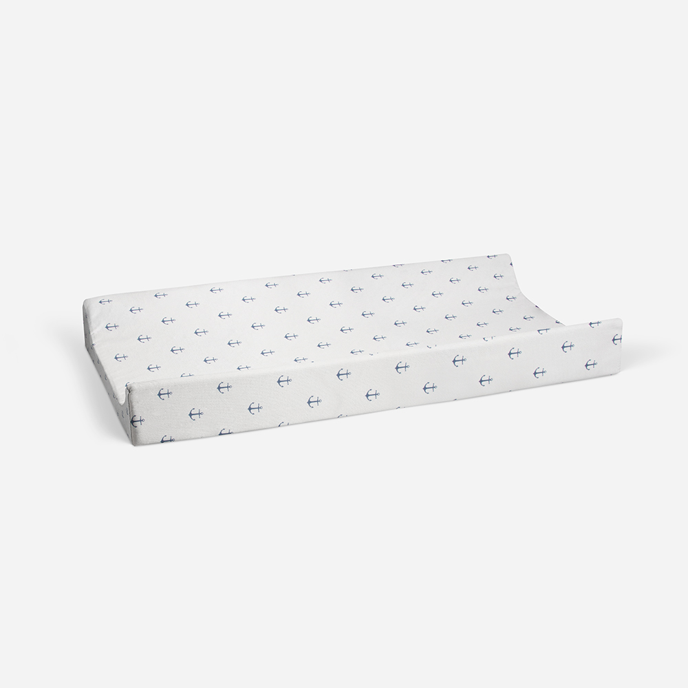 Glenna Jean Little Sailboat Changing Pad Cover, Anchor Print