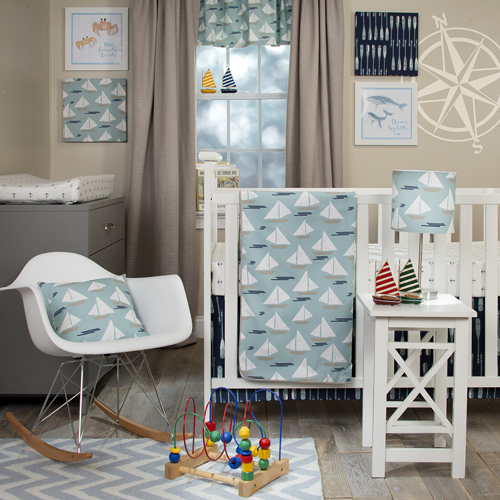 Glenna Jean Little Sailboat 4 Piece Bedding