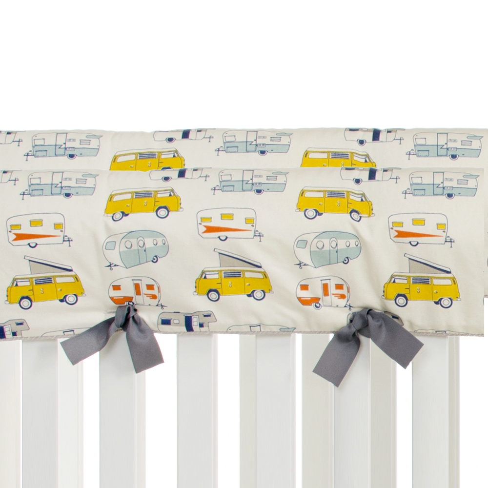 Glenna Jean Happy Camper Convertible Crib Rail Protector, Short