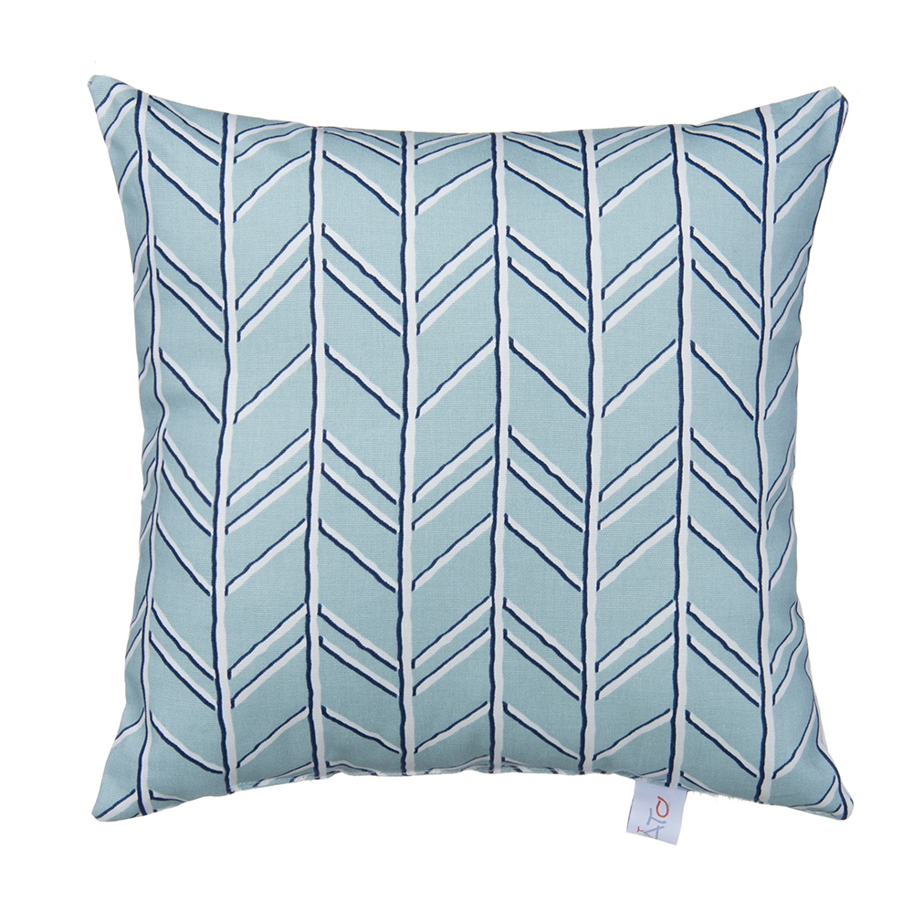 Glenna Jean Happy Camper Pillow, Blue