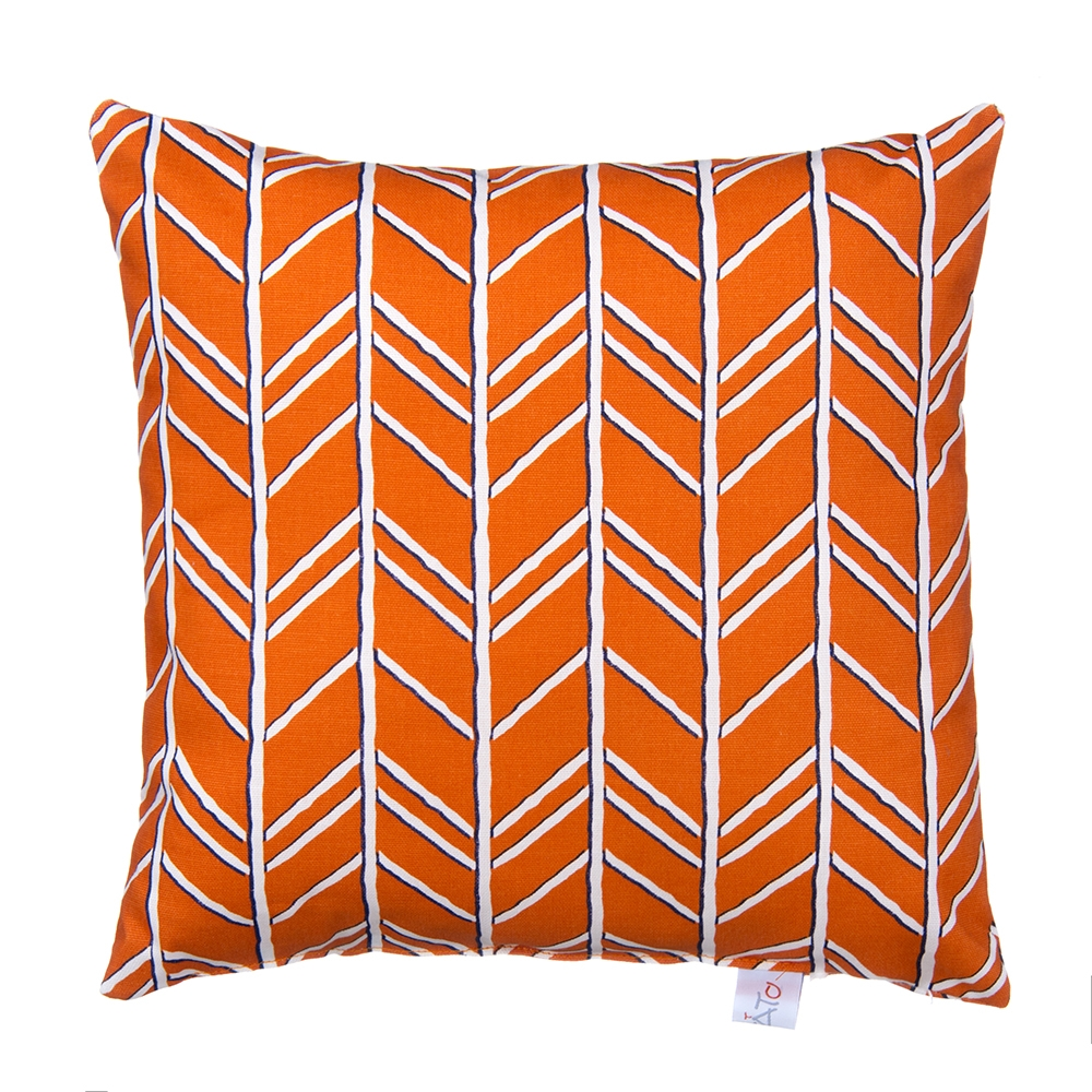 Glenna Jean Happy Camper Pillow, Orange
