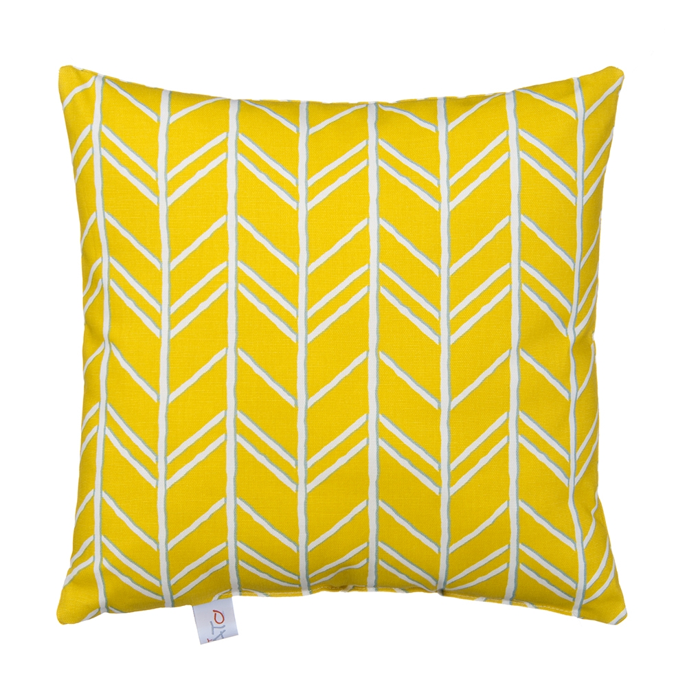 Glenna Jean Happy Camper Pillow, Yellow