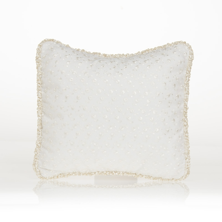 Glenna Jean Ella Ivory Embroidery Pillow