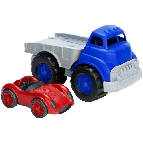 Green Toys Flatbed with Race Car Toy