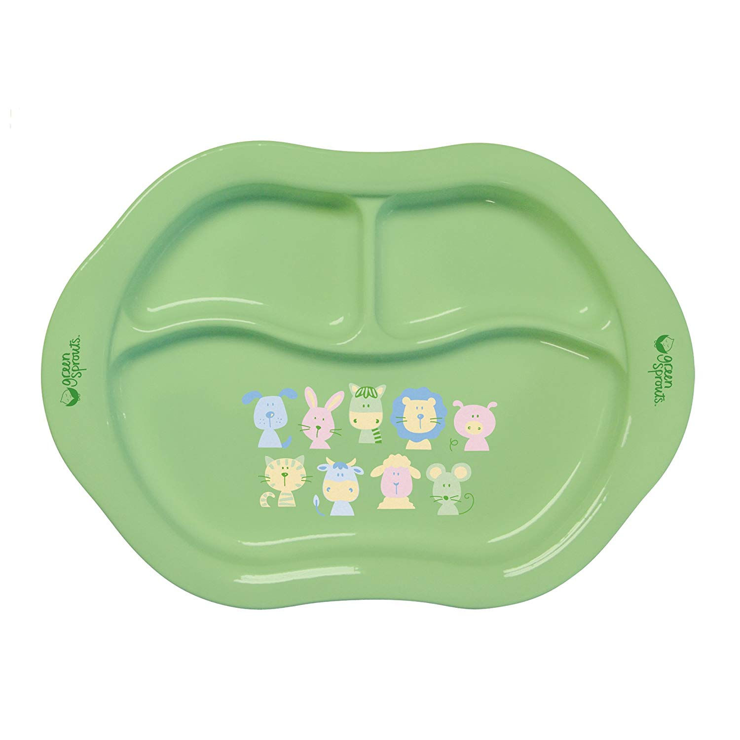 iPlay Green Sprouts Cornstarch Divided Plate