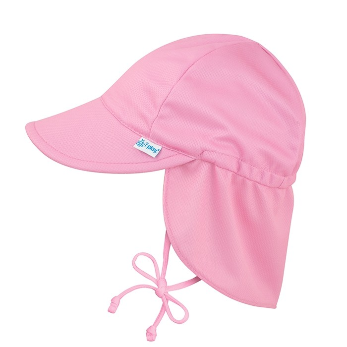 Unisex Baby Solid Flap Sun Protection Hat UPF 50+ i play