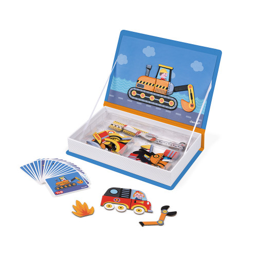 Janod Magnetic Book - Racers
