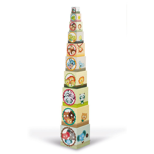 Janod Toys Family Portraits Stacking Pyramid