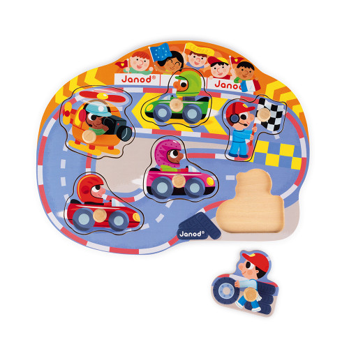 Janod Toys Happy Racing Puzzle