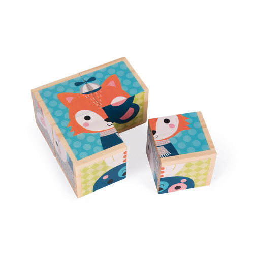 Janod Toys My First Blocks - Forest Animals