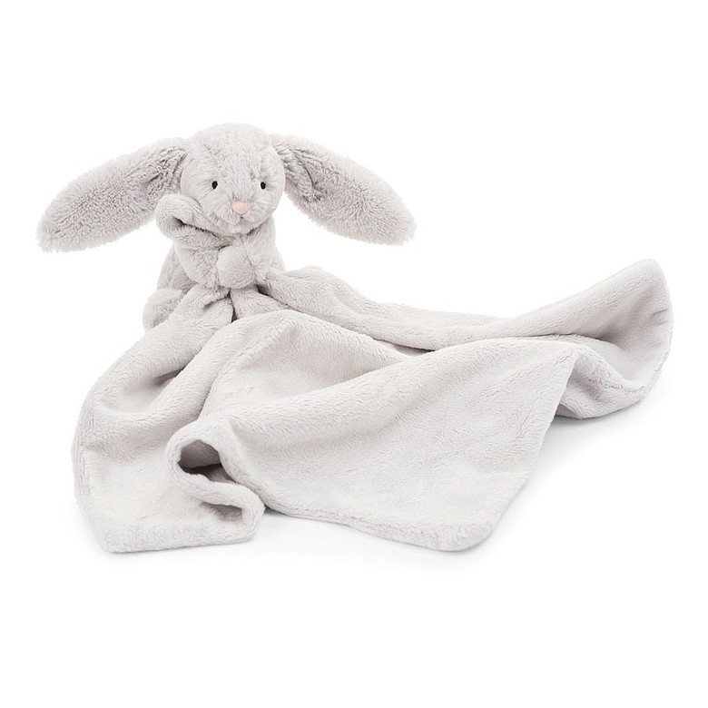 Jellycat Bashful Grey Bunnie Soother Blankie