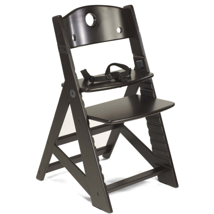 Height Right High Chair with Infant Insert /& Tray Espresso//Aqua