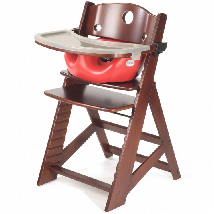 Keekaroo Height Right Chair + Infant Insert Mahogany, Cherry