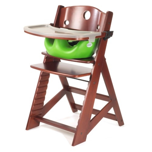 Keekaroo Height Right Chair + Infant Insert Mahogany, Lime