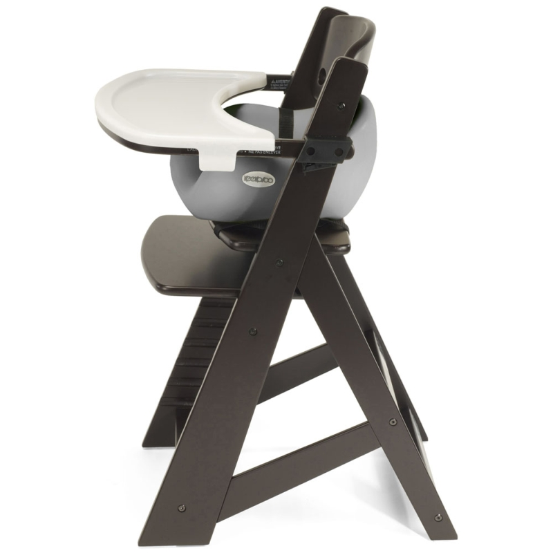Keekaroo Height Right Chair + Infant Insert, Espresso / Grey
