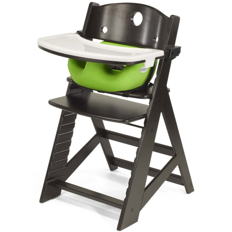 Keekaroo Height Right Chair + Infant Insert, Espresso / Lime