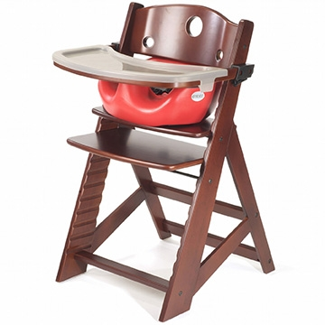 Keekaroo Height Right High Chair Mahogany + Infant Insert + Tray
