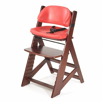 Keekaroo Height Right High Chair Mahogany + Comfort Cushions