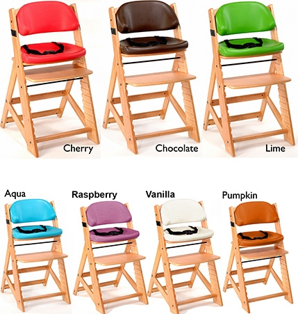 Keekaroo Height Right Kids High Chair with Comfort Cushions Natural//Chocolate