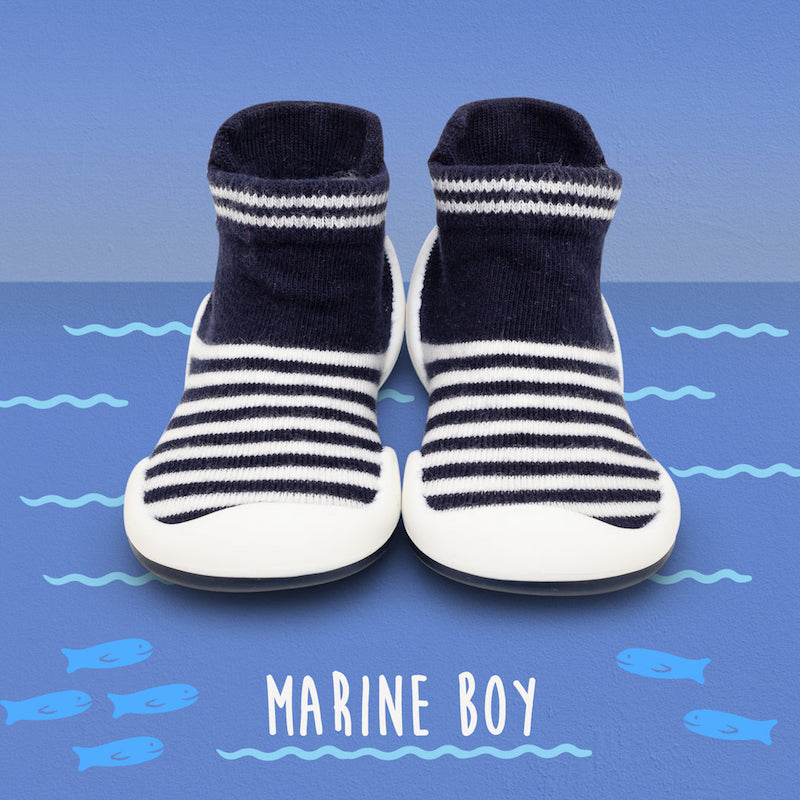 Komuello Baby Shoes in Marine Boy