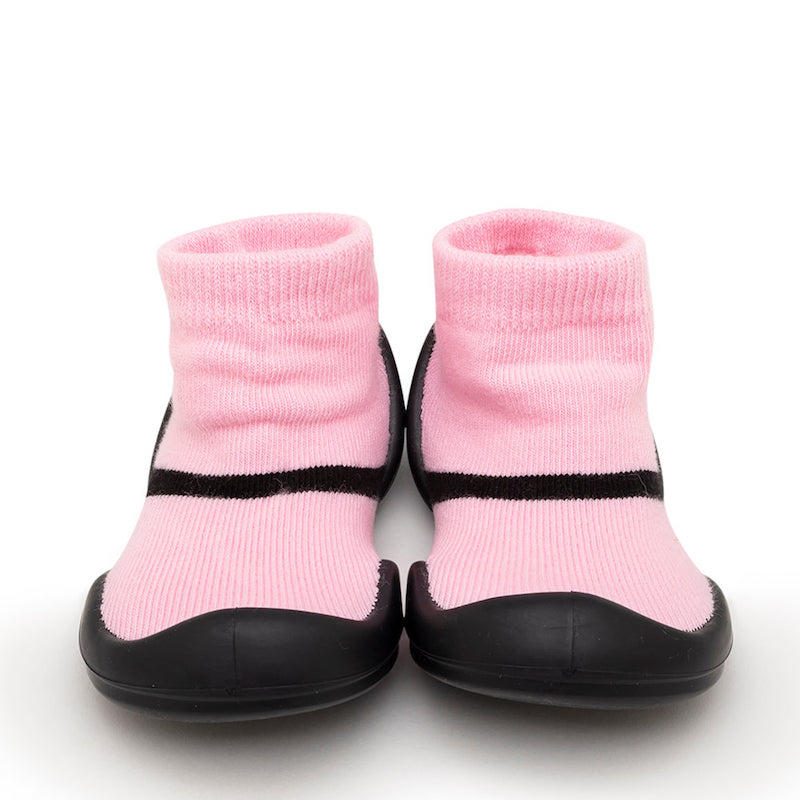 Komuello Baby Shoes in Mary Jane Pink