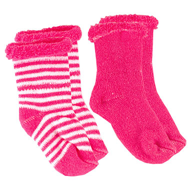Kushies Newborn Socks - Fuschia