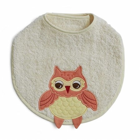 The Little Acorn Baby Orange Owl Bib