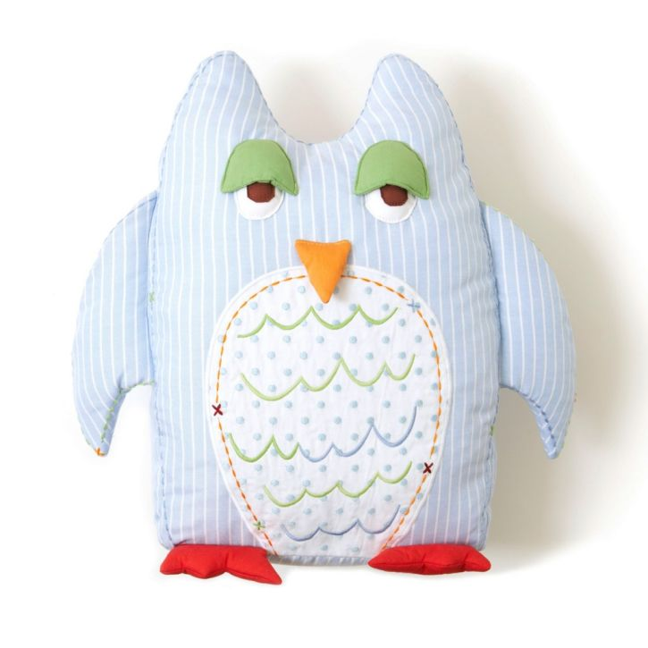 The Little Acorn Owl Shaped Pillow