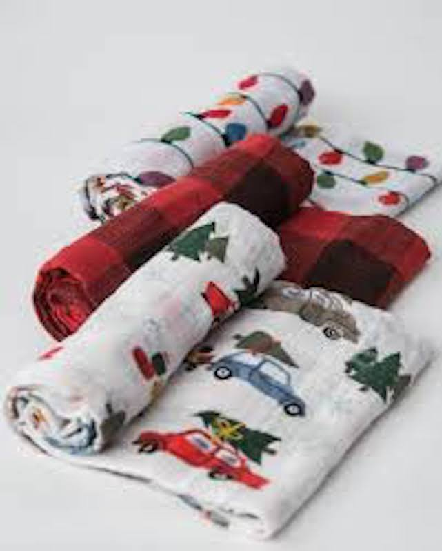 Little Unicorn Cotton Muslin Swaddle 3 Pack - Holiday Haul