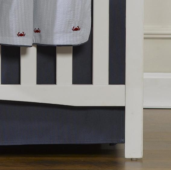 Liz & Roo Solid Navy Crib Skirt