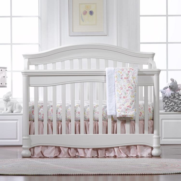 Liz & Roo Petal Pink Linens Bumperless Crib Bedding Set