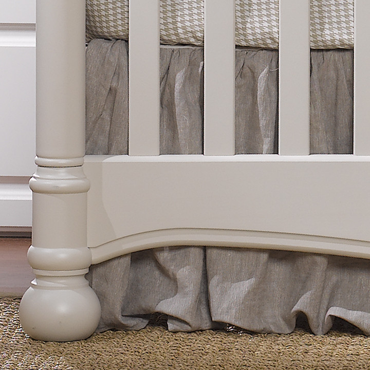 Liz & Roo Flax Linen Crib Skirt with Ruffle